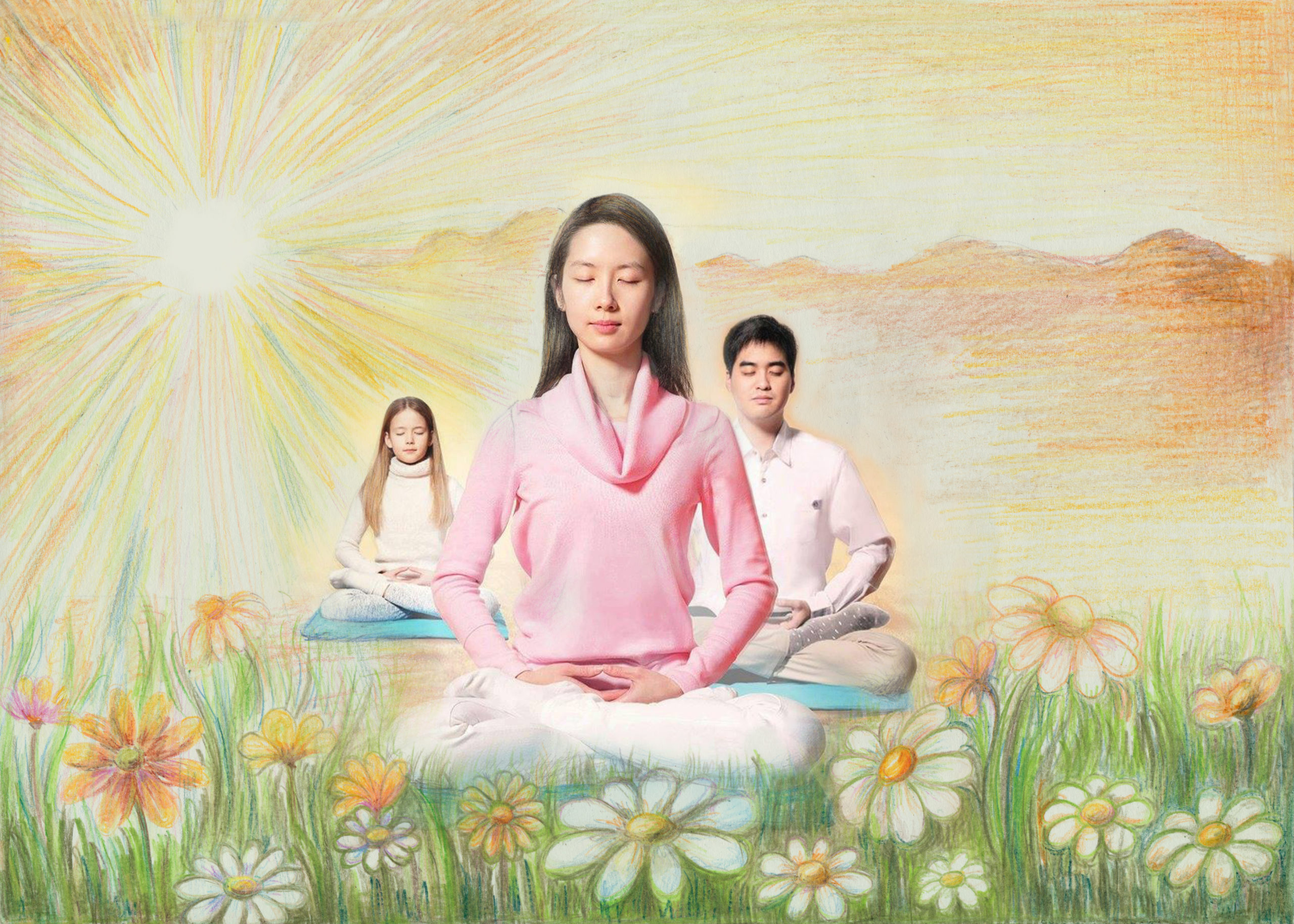 Falun Gong, an ancient Chinese meditation discipline, can serve as a mind-body and spiritual intervention for achieving inner peace and conflict resolution.