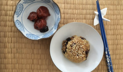 Enjoy Umeboshi Plums with brown rice