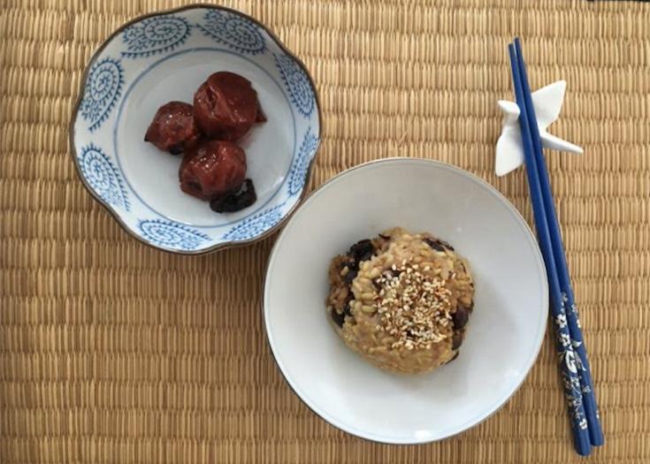 Enjoy Umeboshi Plums with brown rice