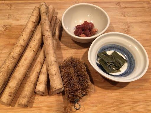 Nishime Burdock Umeboshi Stew